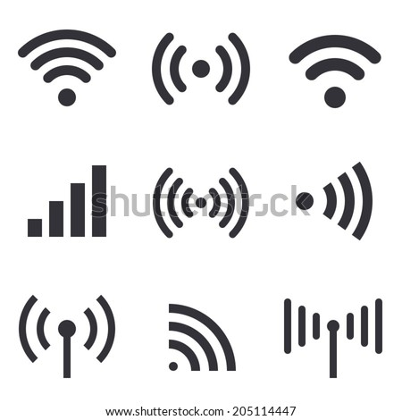 Radio waves - stock vector