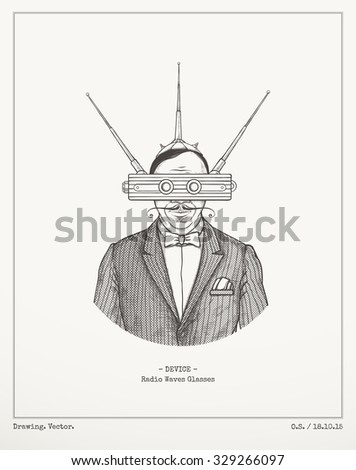 Radio waves glasses.Vector - stock vector