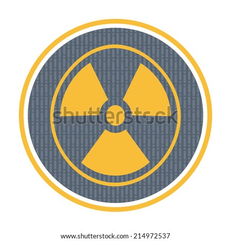 Radioactivity icon, industrial concept with abstract background - stock vector