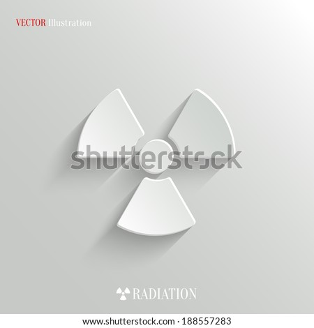 Radioactivity icon - vector web illustration, easy paste to any background - stock vector