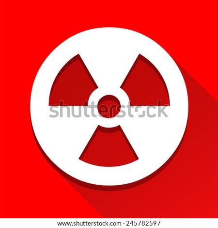 Radioactivity sign icon great for any use. Vector EPS10. - stock vector