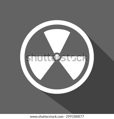 Radioactivity sign icons. flat design - stock vector