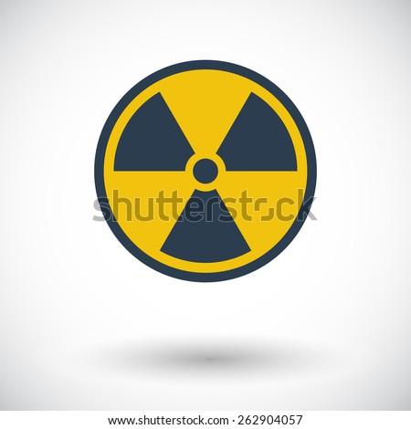 Radioactivity. Single flat icon on white background. Vector illustration. - stock vector