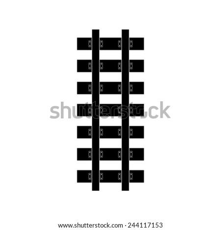 Railroad icon - Vector - stock vector