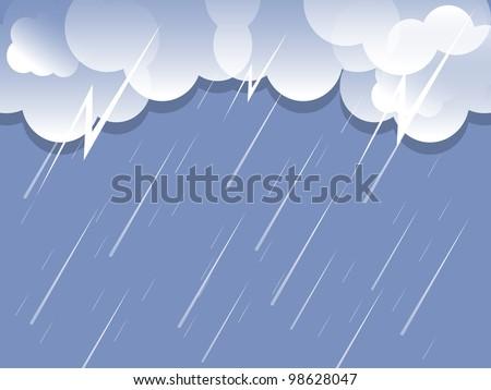 rain cloud background vector - stock vector