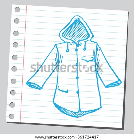 Rain coat - stock vector