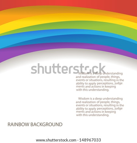 rainbow background with custom text copy place - stock vector
