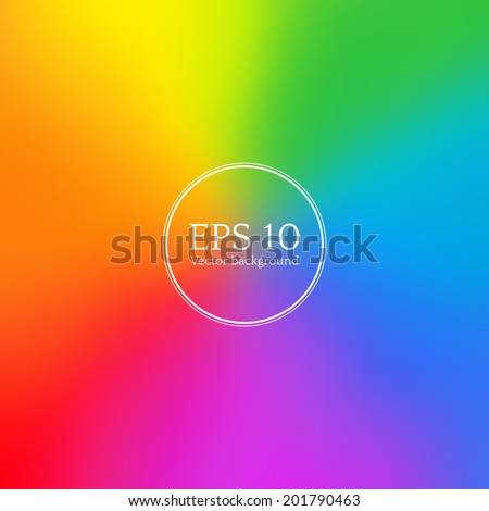Rainbow blurred background. Vector EPS 10. - stock vector