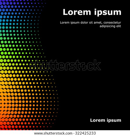 Rainbow colored vector halftone dots for backgrounds and design. illustration - stock vector