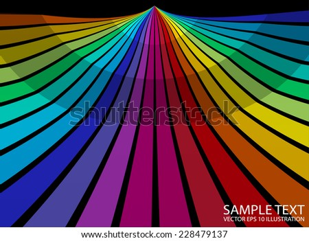 Rainbow colorful background illustration template - Colorful  striped abstract background  template - stock vector