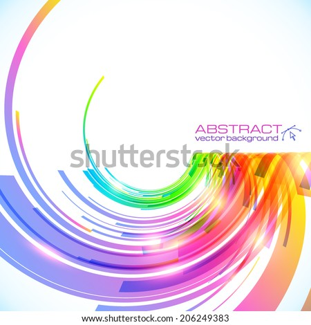 Rainbow colors abstract vector shining background - stock vector