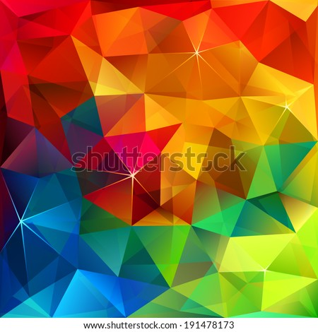 Rainbow colors triangular vector pattern - stock vector