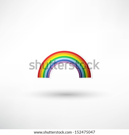rainbow icon - stock vector