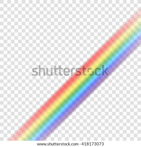 Rainbow icon. Shape line realistic, isolated on transparent background. Colorful light and bright design element for decorative. Symbol of rain, sky, clear, nature. Graphic object. Vector illustration - stock vector