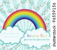 Rainbow in grunge style for advertising or card - stock vector