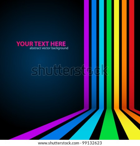 Rainbow Lines Background. Vector illustration for your business presentations. - stock vector