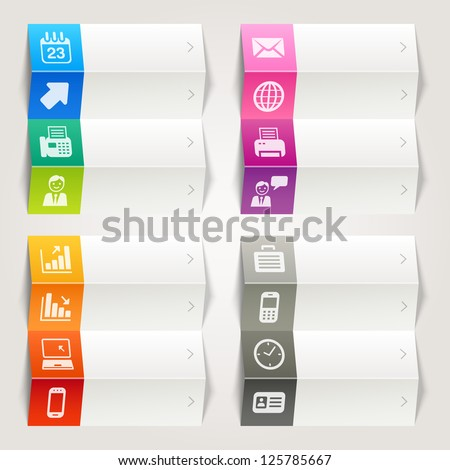Rainbow - Office and Business icons / Navigation template - stock vector