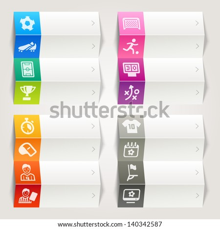 Rainbow - Soccer and Sport Icons / Navigation Template  - stock vector