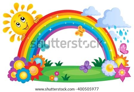 Rainbow topic image 4 - eps10 vector illustration. - stock vector