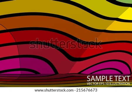Rainbow vector background abstract illustration reflected - Vector colorful striped  background template - stock vector