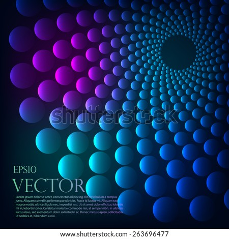 Rainbow vortex vector background for you logo design and business technology template - stock vector
