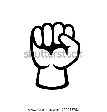 Raised Fist vector illustration. Freedom or protest concept. - stock vector