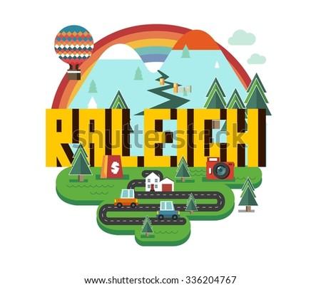 Raleigh Skyline Stock Vectors Amp Vector Clip Art Shutterstock