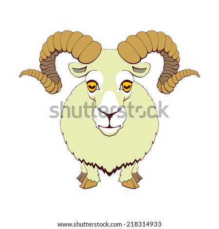 Ram on white background - stock vector