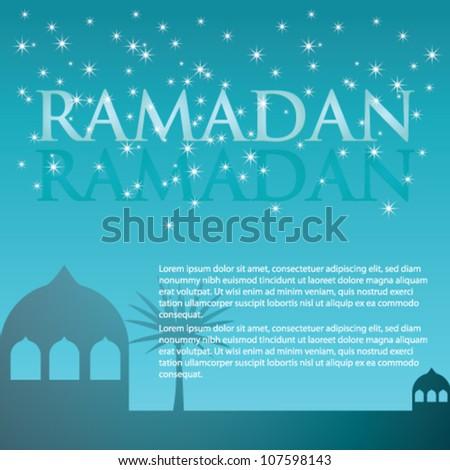 Ramadan Background Vector - stock vector