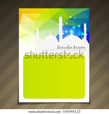 ramadan festival template vector background - stock vector