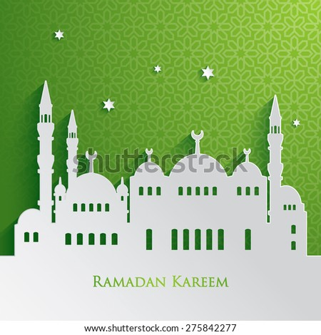 Ramadan greetings - stock vector