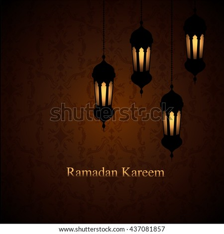 Ramadan Kareem greeting background . Vector illustration. - stock vector
