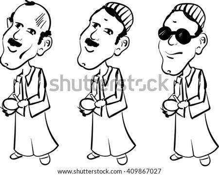 Ramadan souhour man - Mesaharaty - stock vector