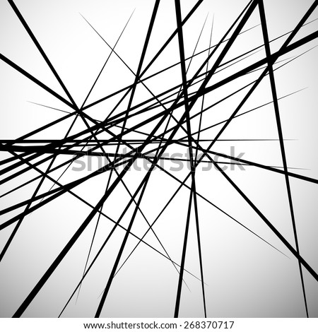 Random lines abstract background. Modern, minimal (contemporary) art like graphics - stock vector