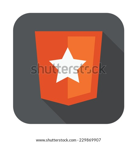 raster round icon of boilerplate html5 template layout - isolated flat design illustration - stock vector