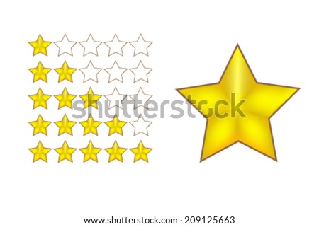 rate star vector - stock vector