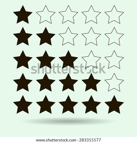 rating - stock vector