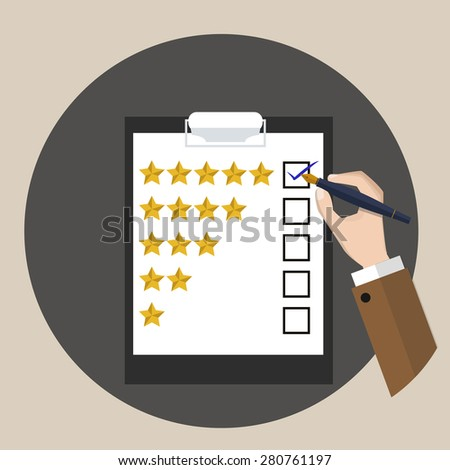 Rating / Customer service / vector / illustration / review   - stock vector