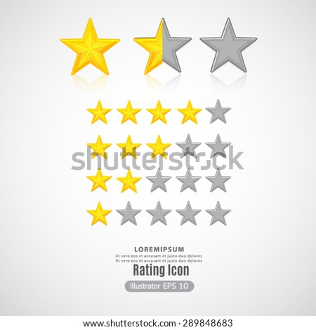 Rating Five Star. - stock vector