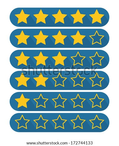 Rating stars - stock vector