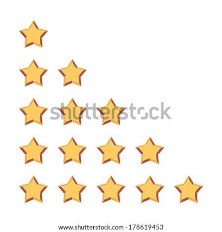 rating stars - stock vector