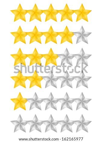 Rating stars on white background, vector eps10 illustration - stock vector