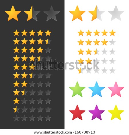 Rating Stars Set. Vector - stock vector