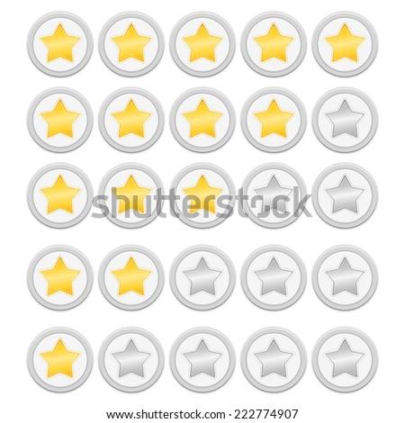 Rating stars, vector eps10 illustration - stock vector