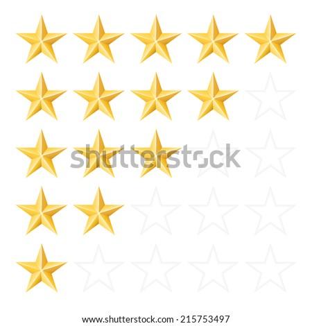 Rating stars. Vector set - stock vector