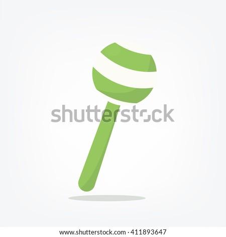 Rattle - stock vector