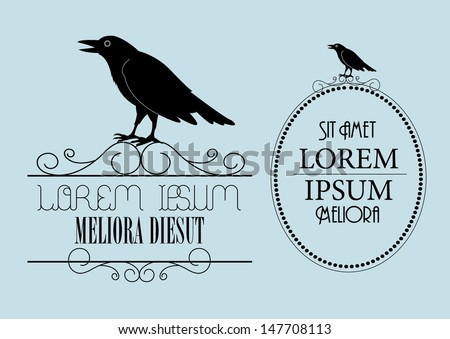 raven signage template vector/illustration - stock vector
