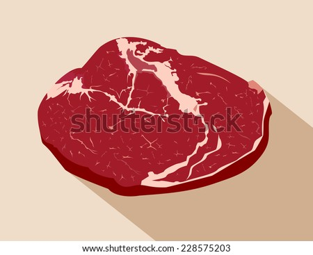 Raw fresh beef  - stock vector