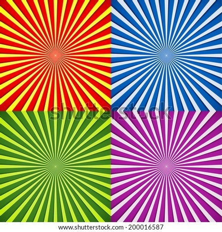 Ray backgrounds - stock vector