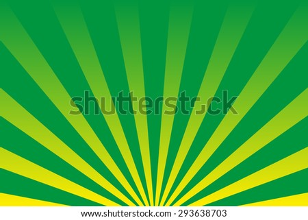 Rays  background  green - stock vector